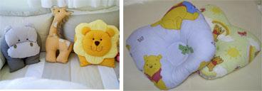 На картинке представлены Детские подушки, которые можно приобрести в магазине Антошка