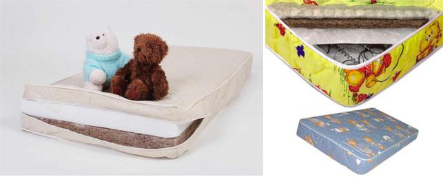 На картинке представлен Матрас в детскую кроватку, который можно приобрести в магазине Антошка