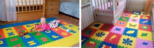 На картинке представлен Коврик-пазл детский, который можно приобрести в магазине Антошка