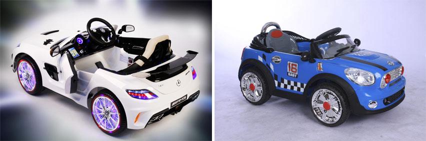 На картинке представлены Детские электромобили, которые можно приобрести в магазине Антошка