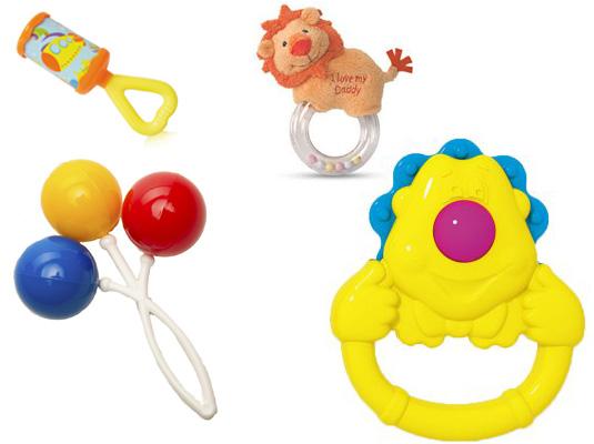 На картинке представлены Погремушки для новорожденных, которые можно приобрести в магазине Антошка