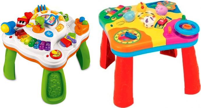 На картинке представлен Развивающий столик для детей, который можно приобрести в магазине Антошка