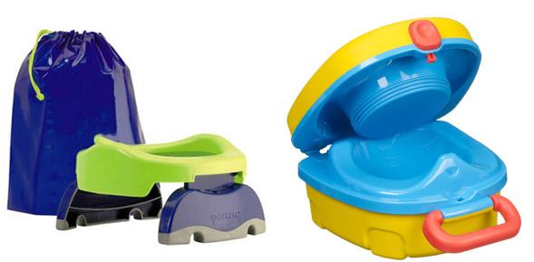 На картинке представлен Дорожный горшок для малыша, который можно приобрести в магазине Антошка