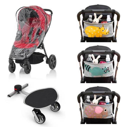 На картинке представлены аксессуары для коляски в интернет магазине, которые можно приобрести в магазине Антошка