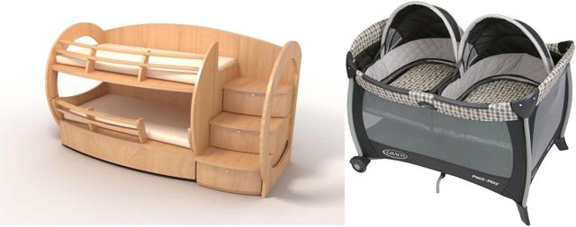 На картинке представлены Кроватки для двойни, которые можно приобрести в магазине Антошка