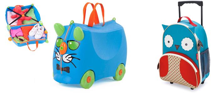 На картинке представлен Детский чемодан на колесах, который можно приобрести в магазине Антошка