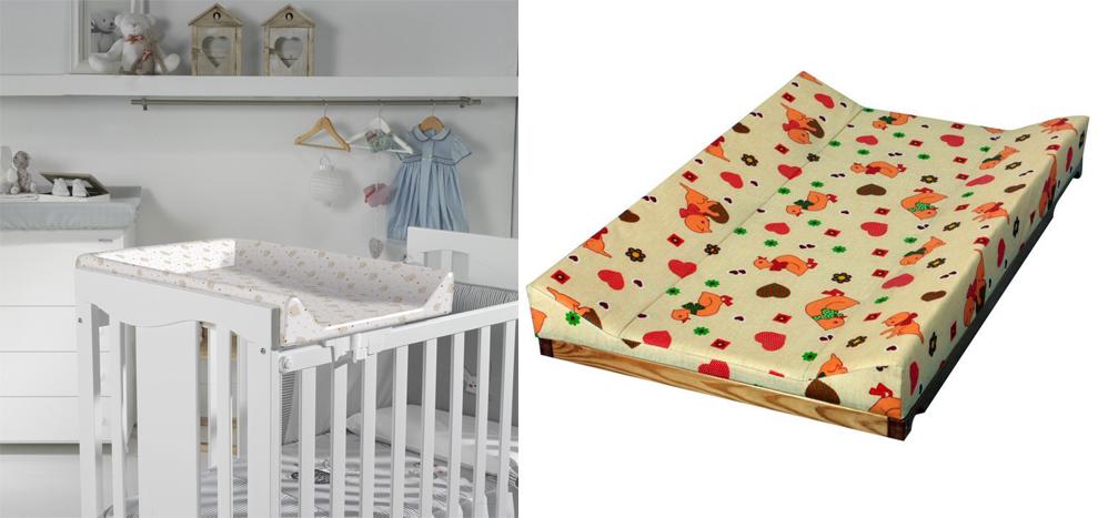 На картинке представлена Пеленальная доска на кроватку, которую можно приобрести в магазине Антошка