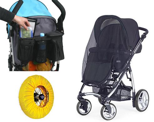 На картинке представлены Аксессуары для детских колясок, которые можно приобрести в магазине Антошка