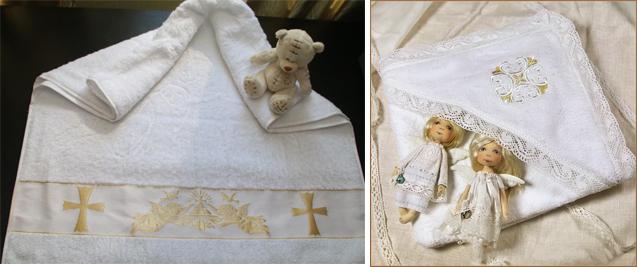 На картинке представлено Крестильное полотенце, которое можно приобрести в магазине Антошка