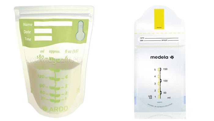 На картинке представлены Пакеты для заморозки грудного молока, которые можно приобрести в магазине Антошка