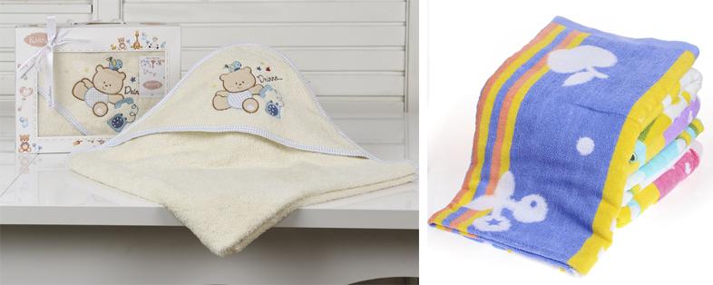 На картинке представлены Детские полотенца, которые можно приобрести в магазине Антошка