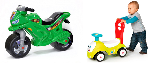На картинке представлен Детский транспорт, который можно приобрести в магазине Антошка
