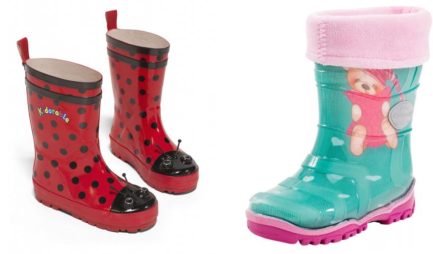 На картинке представлены детские резиновые сапоги, которые можно приобрести в магазине Антошка