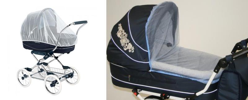 На картинке представлена Москитная сетка на коляску, которую можно приобрести в магазине Антошка