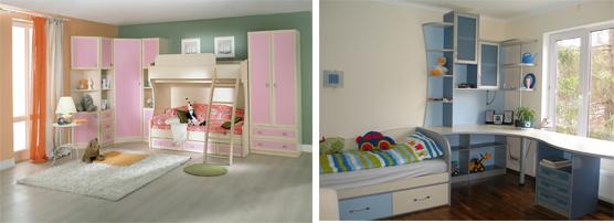 На картинке представлена мебель для детской комнаты, которую можно приобрести в магазине Антошка