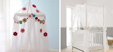 На картинке представлена Детская кроватка с балдахином, которую можно приобрести в магазине Антошка