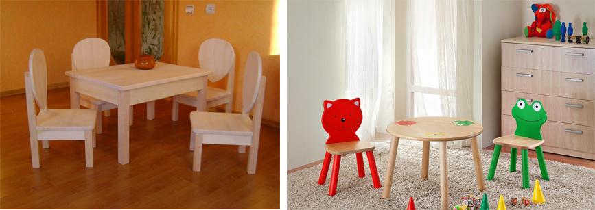 На картинке представлена Детская мебель. Стол и стульчик, которую можно приобрести в магазине Антошка