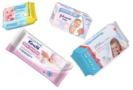 На картинке представлены влажные салфетки для ребенка, которые можно приобрести в магазине Антошка