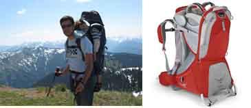 На картинке представлен Рюкзак для переноски ребенка, который можно приобрести в магазине Антошка