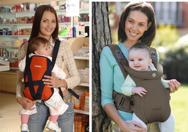 На картинке представлен Рюкзак-кенгуру для переноски ребенка, который можно приобрести в магазине Антошка