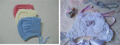 На картинке представлен Вязаный чепчик для новорожденного купить, который можно приобрести в магазине Антошка
