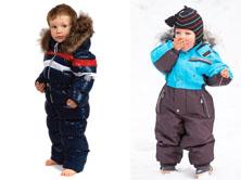 На картинке представлены Детские комбинезоны зимние для мальчиков, которые можно приобрести в магазине Антошка