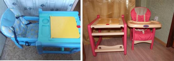 На картинке представлен стул трансформер для ребенка, который можно приобрести в магазине Антошка