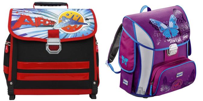 На картинке представлены Портфели школьные, которые можно приобрести в магазине Антошка
