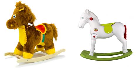 На картинке представлена Качалка лошадка для детей, которую можно приобрести в магазине Антошка