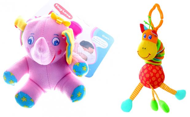 На картинке представлены Игрушки фирмы тини лав, которые можно приобрести в магазине Антошка