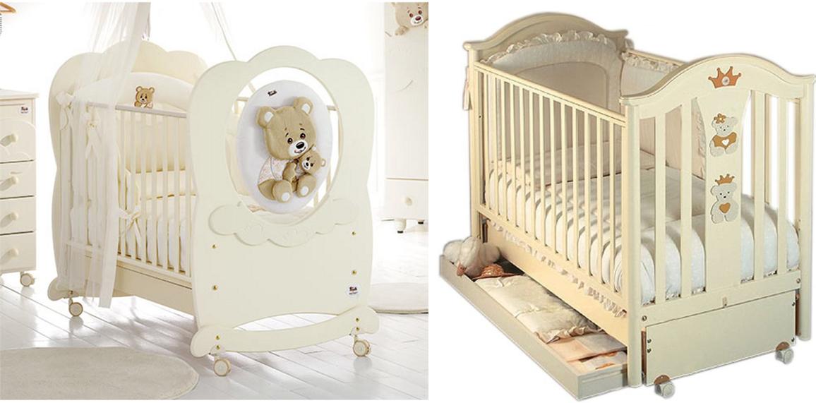 На картинке представлены Кроватки для новорожденных, которые можно приобрести в магазине Антошка