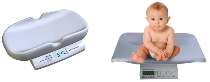 На картинке представлены Весы для новорожденного, которые можно приобрести в магазине Антошка