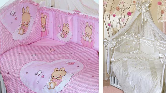 На картинке представлен Комплект в кроватку золотой гусь, который можно приобрести в магазине Антошка