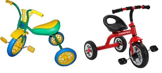 На картинке представлен трехколесный детский велосипед, который можно приобрести в магазине Антошка