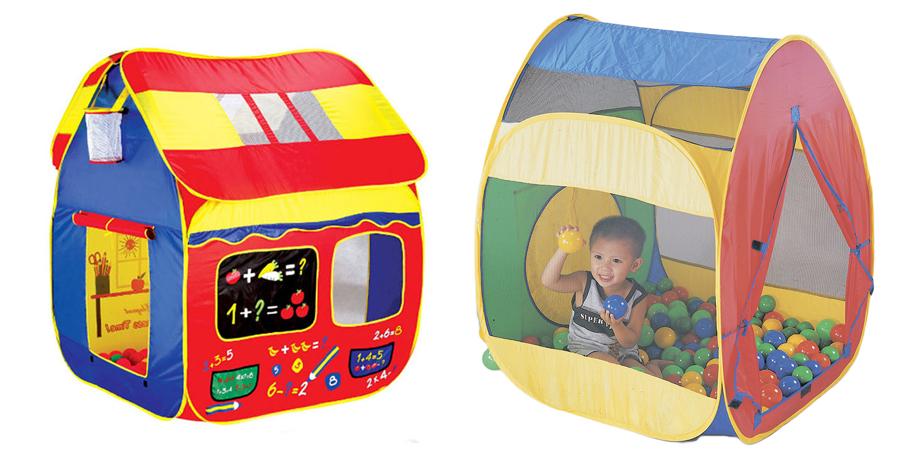 На картинке представлены Детские палатки, которые можно приобрести в магазине Антошка