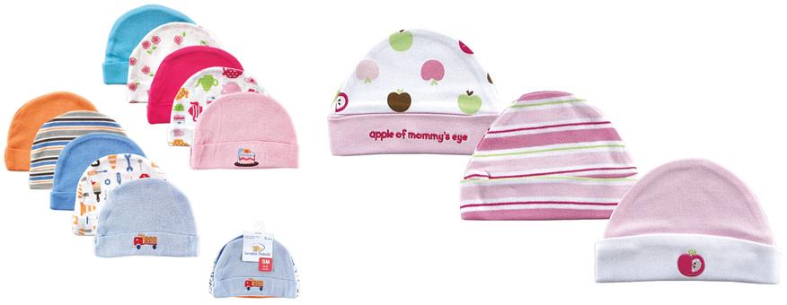 На картинке представлены Чепчики и шапочки для новорожденных, которые можно приобрести в магазине Антошка