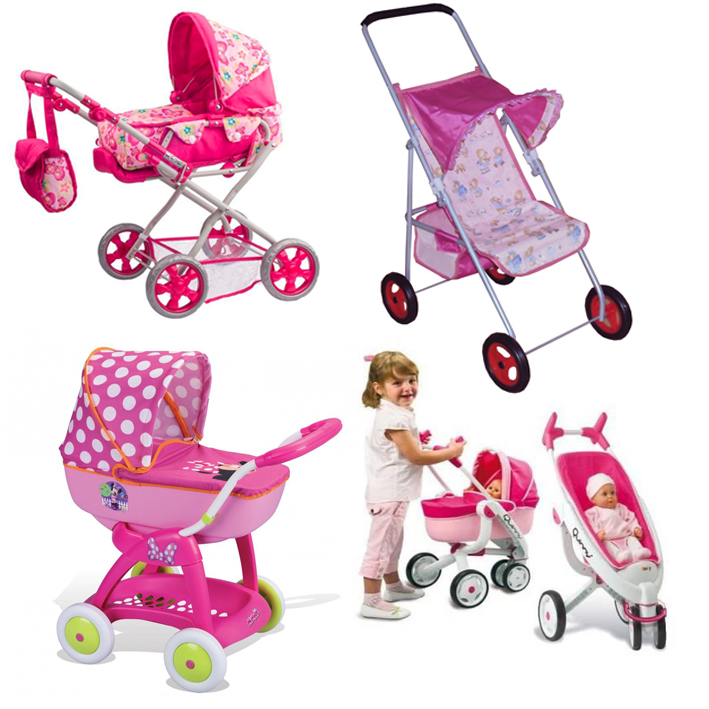 На картинке представлены коляски для кукол, которые можно приобрести в магазине Антошка
