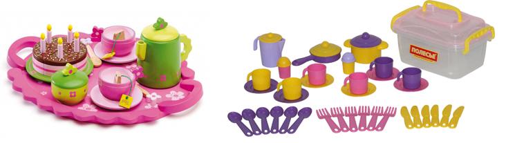 На картинке представлен Набор детской посуды, который можно приобрести в магазине Антошка