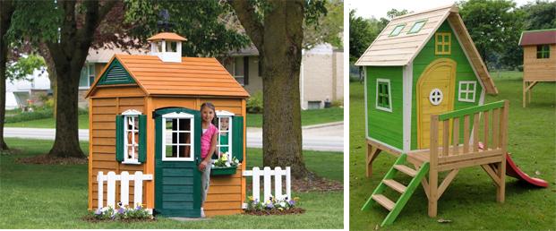 На картинке представлен Детский деревянный игровой домик, который можно приобрести в магазине Антошка