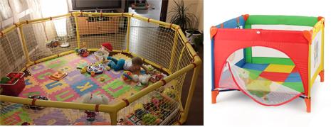 На картинке представлен детский манеж, который можно приобрести в магазине Антошка