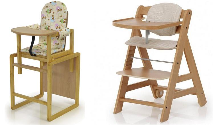 На картинке представлен Деревянный стульчик для кормления, который можно приобрести в магазине Антошка