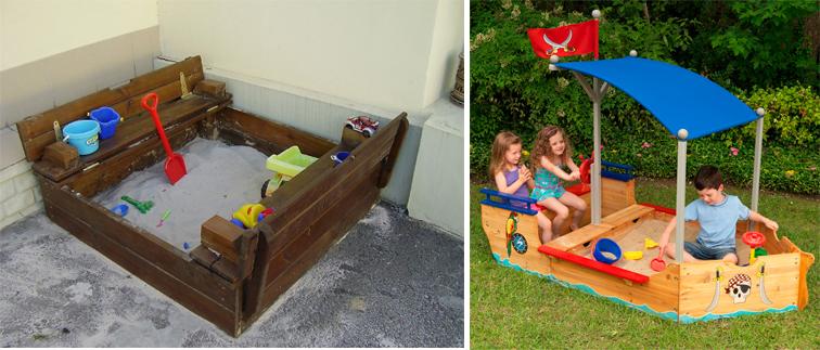 На картинке представлена Красивая песочница для детей на дачу, которую можно приобрести в магазине Антошка