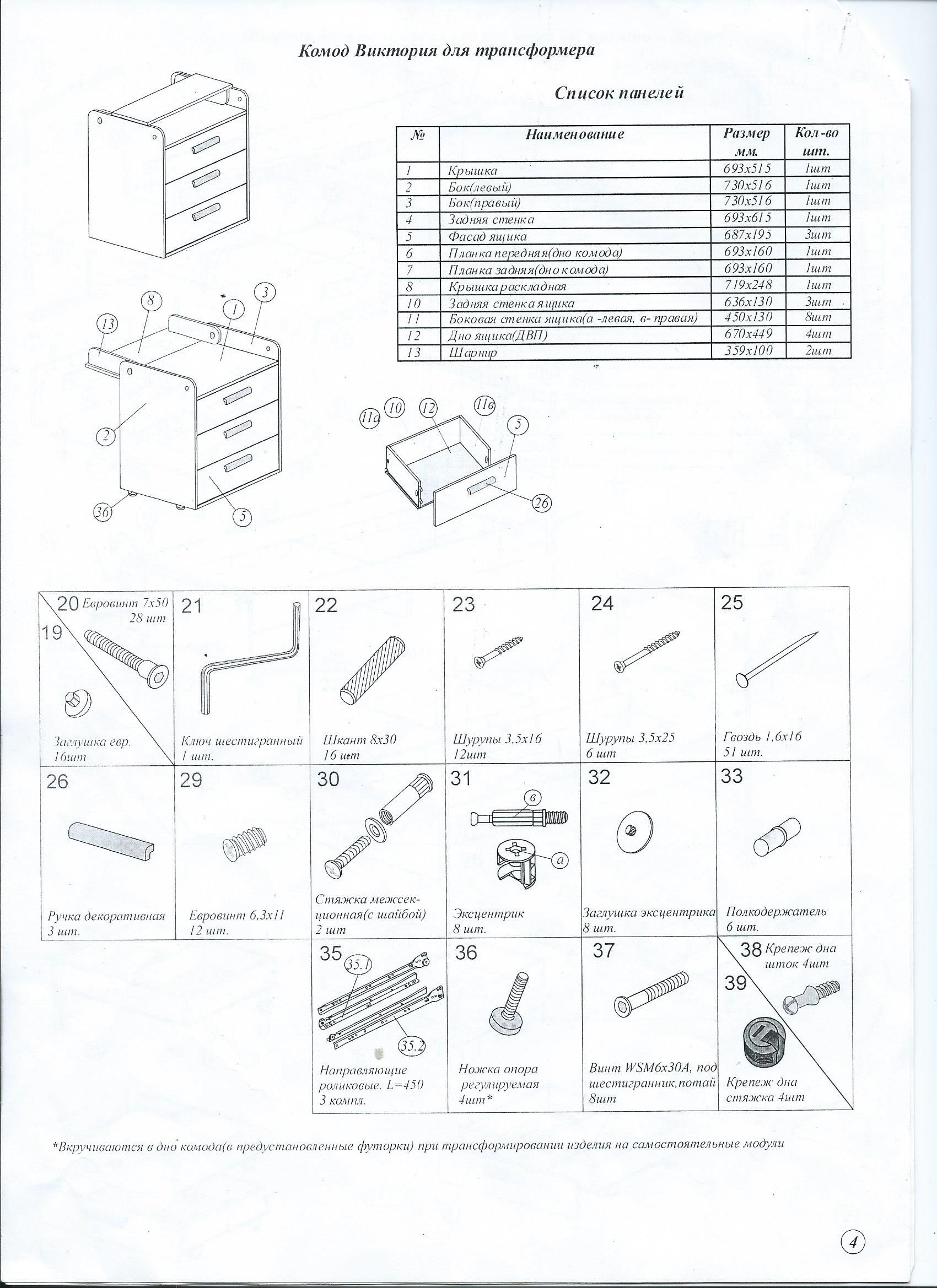 кроватки сборке трансформер инструкция