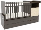 Детская кровать-трансформер СКВ 5 Жираф венге-беж
