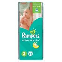 Подгузники Pampers Active Baby Dry Midi 5-9 кг 54 шт.