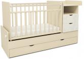Детская кровать-трансформер СКВ 5 Жираф бежевый-белый