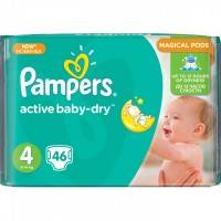 Подгузники Pampers Active Baby Dry  Maxi 8-14 кг 46 шт.