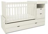 Детская кровать-трансформер СКВ 5 Жираф белая