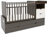 Детская кровать-трансформер СКВ 5 Жираф венге-белый
