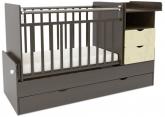 Детская кровать-трансформер СКВ 5 Жираф венге-ясень крем
